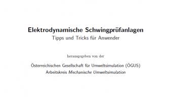 Elektrodynamische Schwingprüfungsanlagen (DE) - digitale Downloadedition